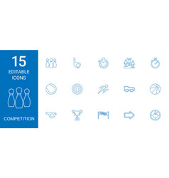 competition icons vector image