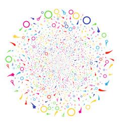 confetti stars festive spheric cluster vector image