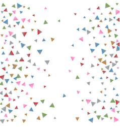 Confetti triangles on a white background vector