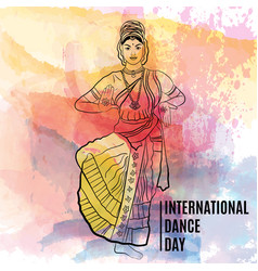 creative abstract for world dance day with vector image