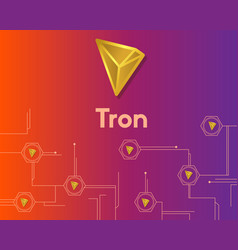Cryptocurrency tron blockchain circuit background vector