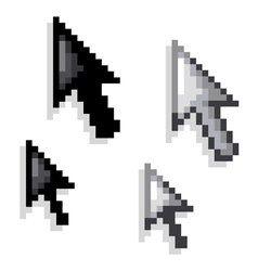 cursor black and white variations vector image