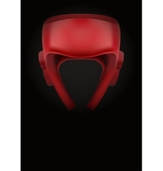 Dark background of boxing helmet vector