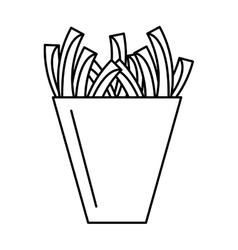 Delicious french fries isolated icon vector