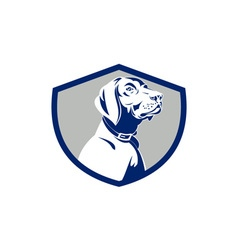 Dog Pointer Head Profile Side Crest Retro vector image