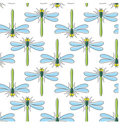 dragonfly seamless pattern for textile design vector image