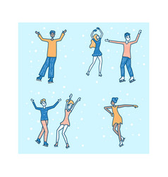 figure skating concept vector image