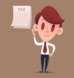Filing your taxes business man or manager holds vector