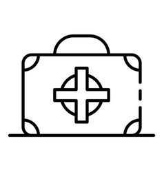 first aid kit box icon outline style vector image