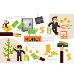 flat finance infographic concept vector image