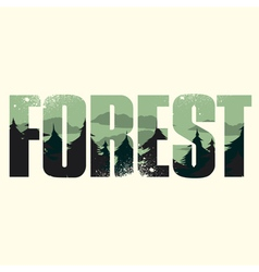Forest sign vector image