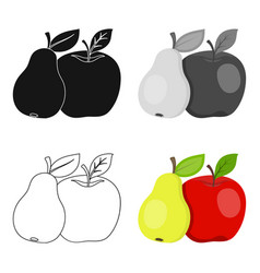 fruit single icon in cartoon style fruit vector image