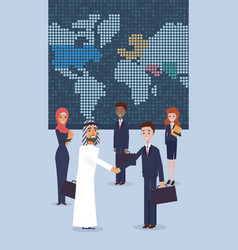 group business people standing in office vector image
