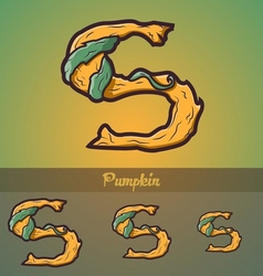 Halloween decorative alphabet - S letter vector