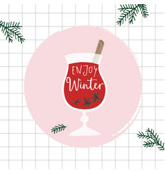 hand drawn alcoholic drink cocktail mulled wine vector image