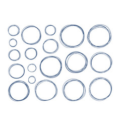 hand drawn circle set elements sketch vector image