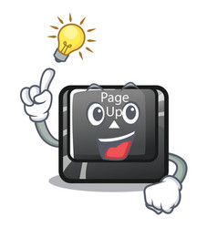 Have an idea button page up keyboard mascot vector