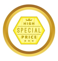 High special price label icon vector