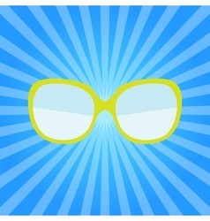 Hipster Summer Sunglasses Fashion Glasses Icon vector