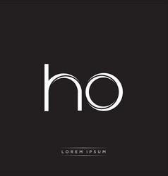Ho initial letter split lowercase logo modern vector