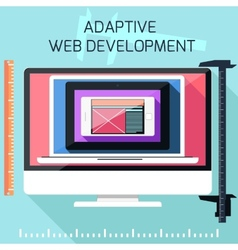Icons for adaptive web development vector