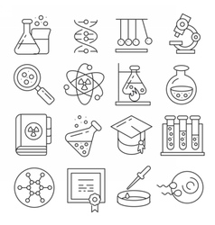 icons lines set vector image