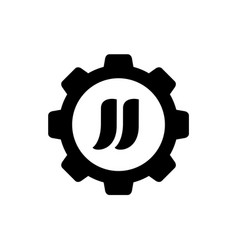 initial letter jj combined with gear logo vector image