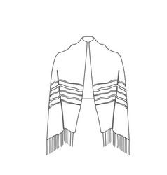 Jewish tallit icon vector