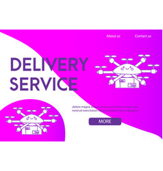 landing page design template for delivery service vector image