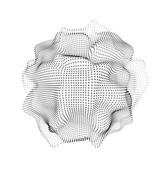 light 3d abstract space particles array shape vector image