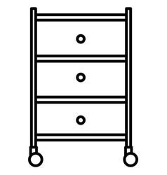 Mechanic workshop drawer icon vector
