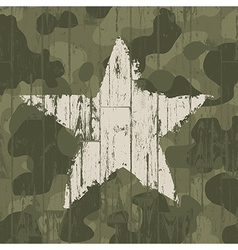 military camouflage background with star vector image