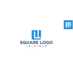 ml or lm square logo design inspiration vector image