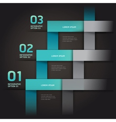 Modern infographics arrow origami style vector