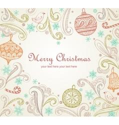 Ornate Christmas frame vector