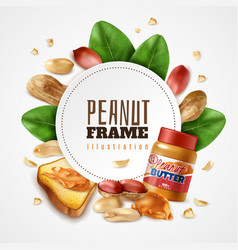 peanut butter circle composition vector image