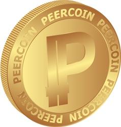 Peercoin vector image
