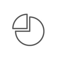 Pie chart with segment line icon vector
