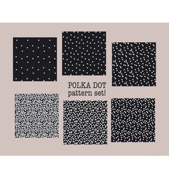 Polka dot fabric sample assorted set of dotted vector