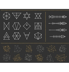 Set of geometric hipster shapes 972211black vector