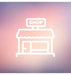 Shop store Thin line icon vector image
