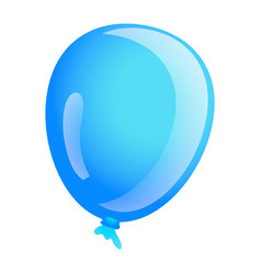 sky blue ballon icon cartoon style vector image