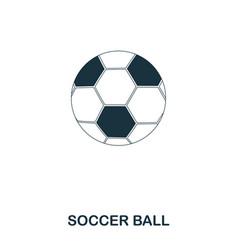 soccer ball icon premium style icon design ui vector image