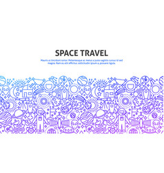 space travel concept vector image