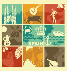 spain background vector image