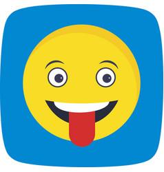 Tongue emoji icon vector