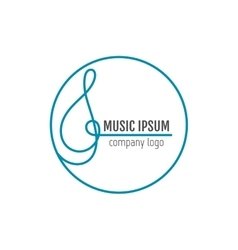 Treble clef Business art music logo for company vector