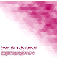 triangle background cover or invitation card vector image