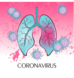 Virus enters human lungs vector