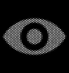 white halftone eye icon vector image